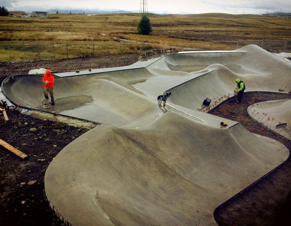 Blackfeet Skatepark lunar landscape