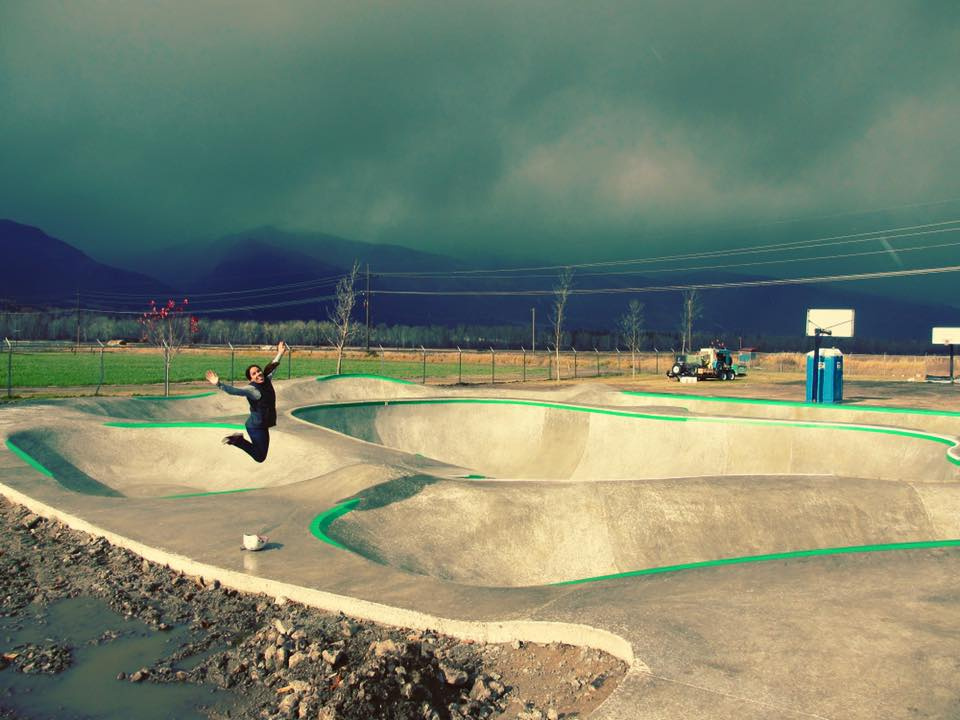 Stevensville, Montana skatepark is all done!