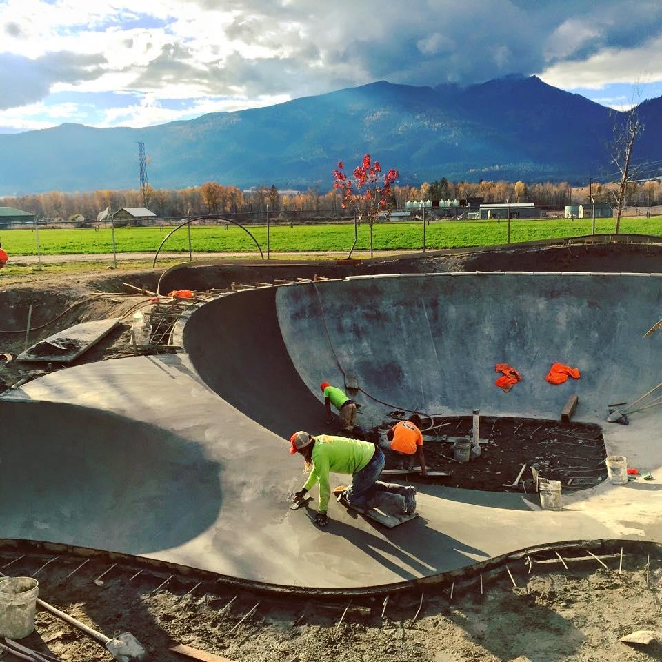 Stevensville, Montana Skatepark construction