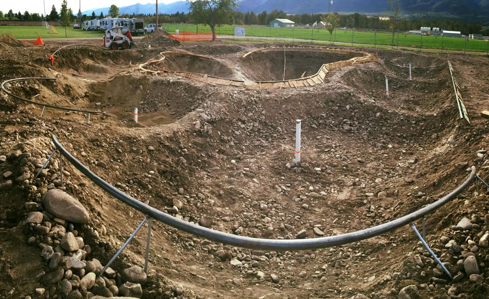 Stevensville, Montana Skatepark coming together