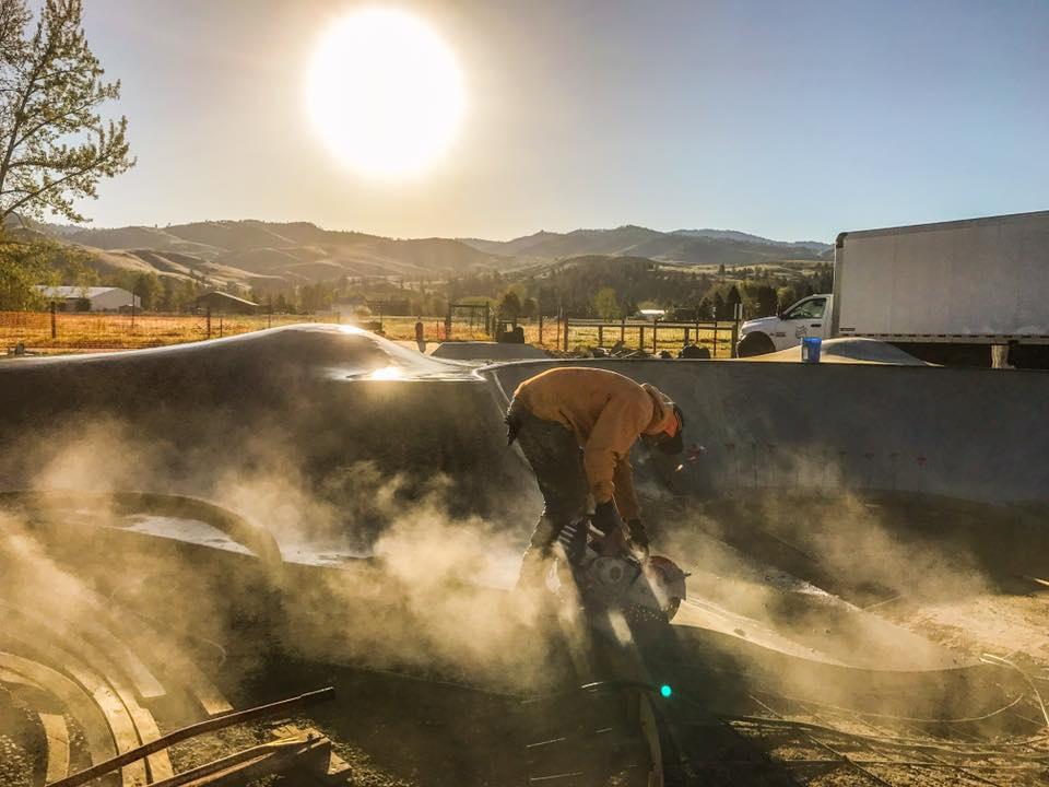 Darby, Montana Skatepark construction