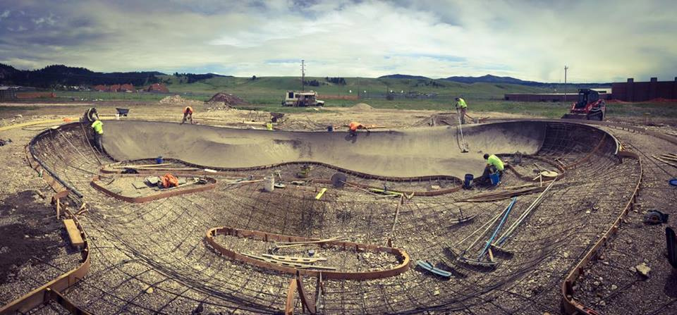 Hays, Montana big concrete pour!