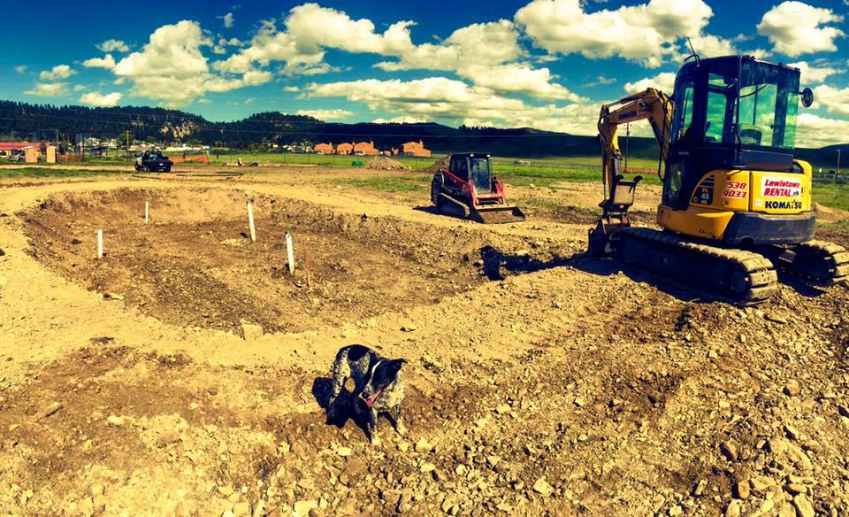 Hays, Montana Skatepark construction