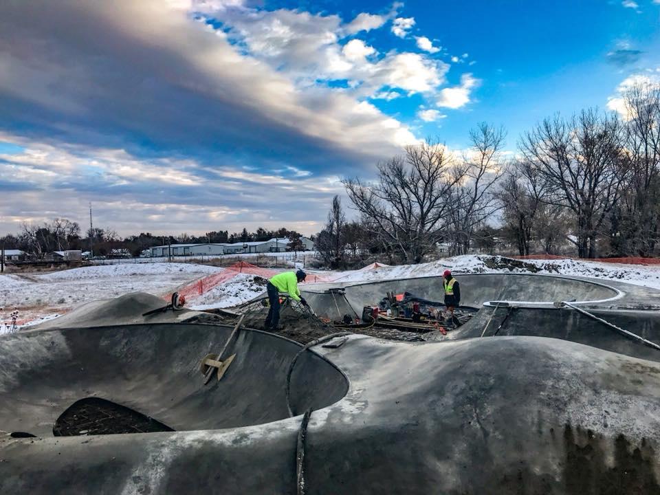 Fort Morgan, Colorado Skatepark construction