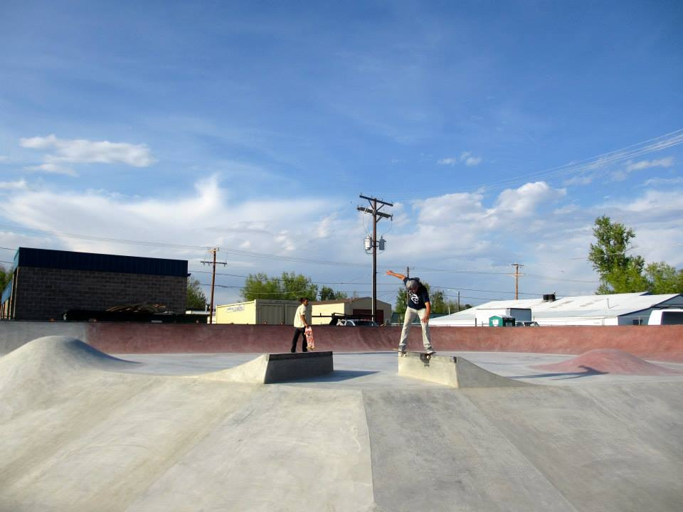 Jesse Clayton backtail at the Milliken, Colorado Skatepark