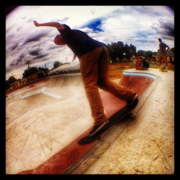 Chet Childress Smith Grind at the Milliken, Colorado Skatepark