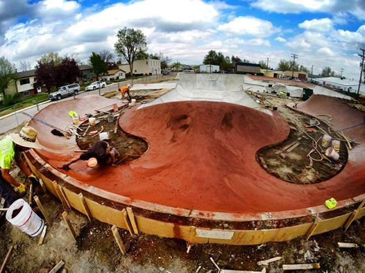 Whale tail at the Milliken, Colorado Skatepark