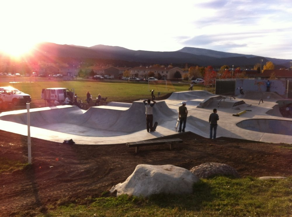 Golden hour at Carbondale, Colorado skatepark
