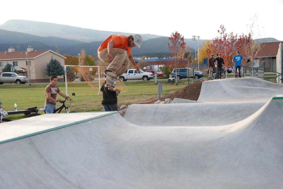 Owner Billy Coulon skates at Carbondale Phase II