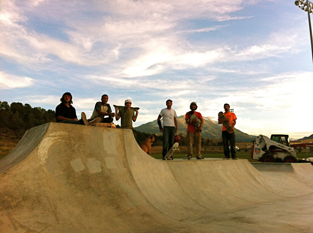 The crew along with skatepark advocates Josh & Chris