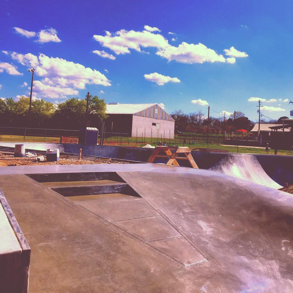 Fredericksburg, Texas Skatepark construction