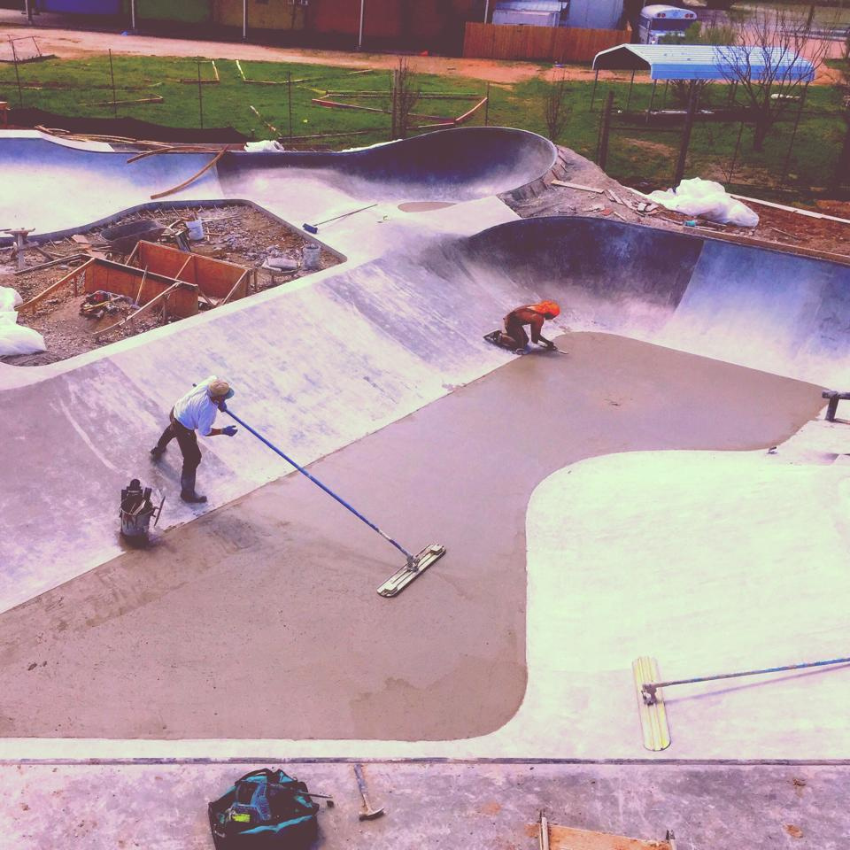 Flat work at the Fredericksburg, Texas Skatepark