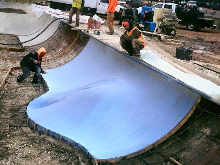 Making skate shapes at the Fredericksburg, Texas Skatepark