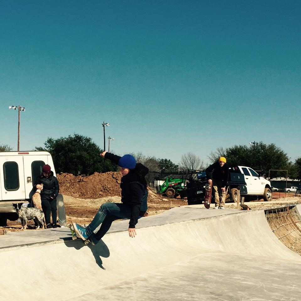 First staff test runs at the Fredericksburg, Texas Skatepark