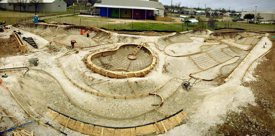 Fredericksburg, Texas Skatepark site overview