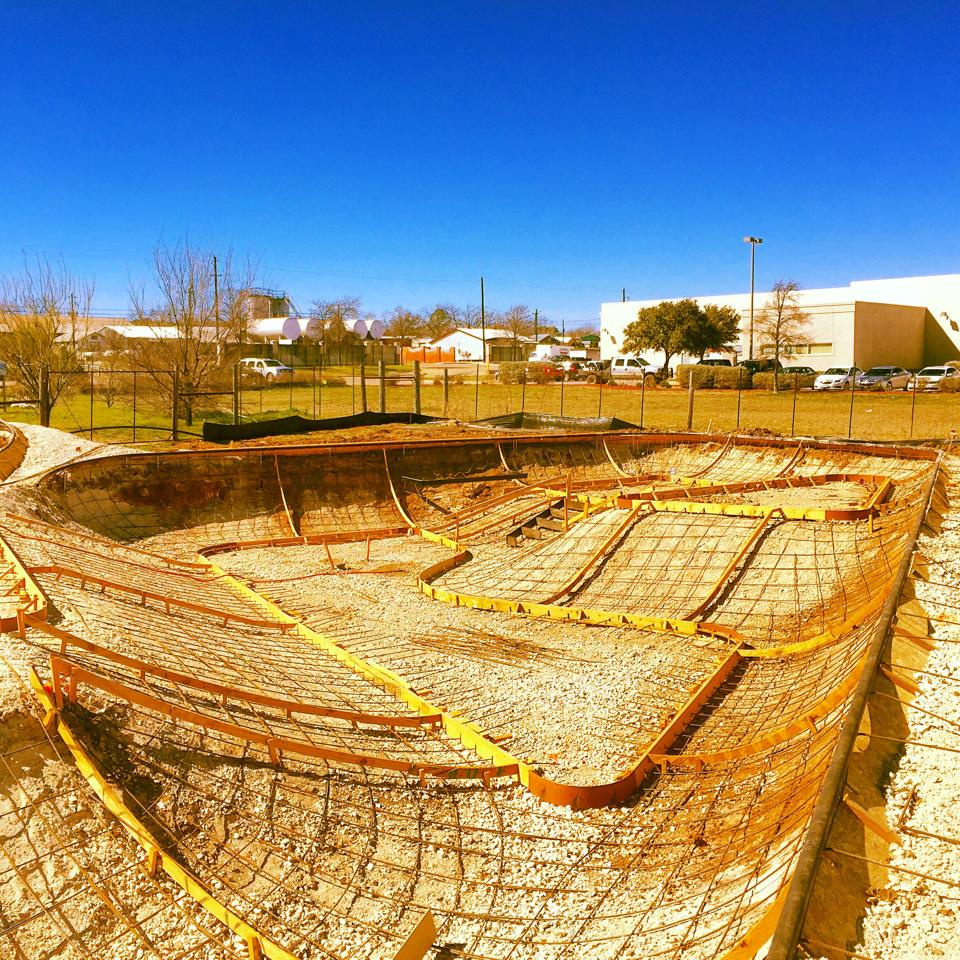 Fredericksburg, Texas Skatepark construction site