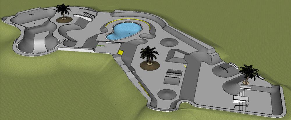 Fredericksburg, Texas Skatepark conceptual design