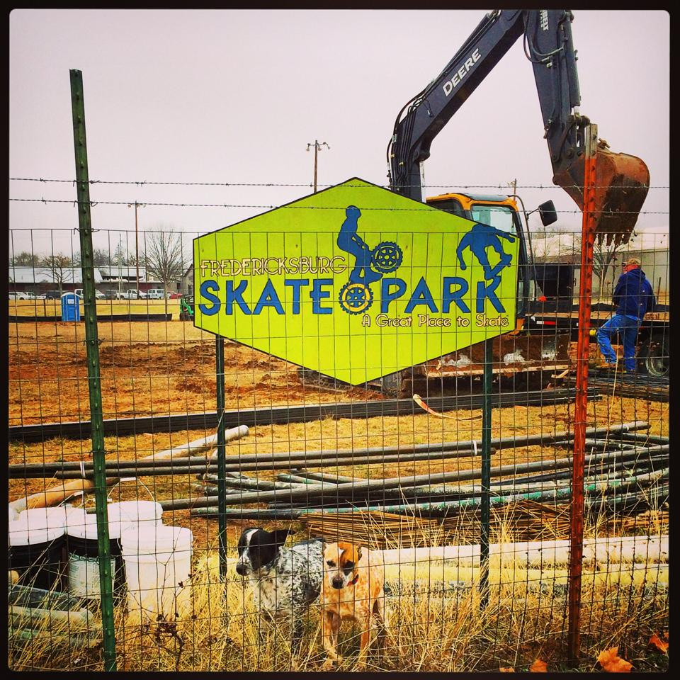 Fredericksburg, Texas skatepark is underway!