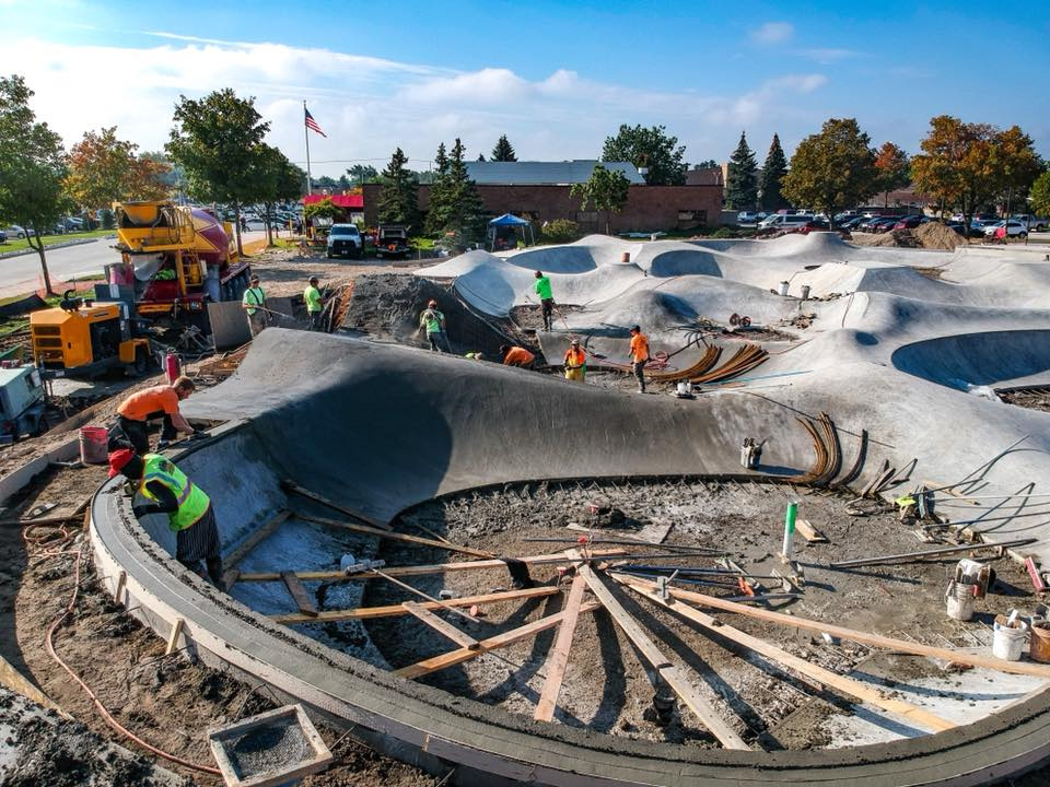 Sterling Heights, Michigan Skatepark construction