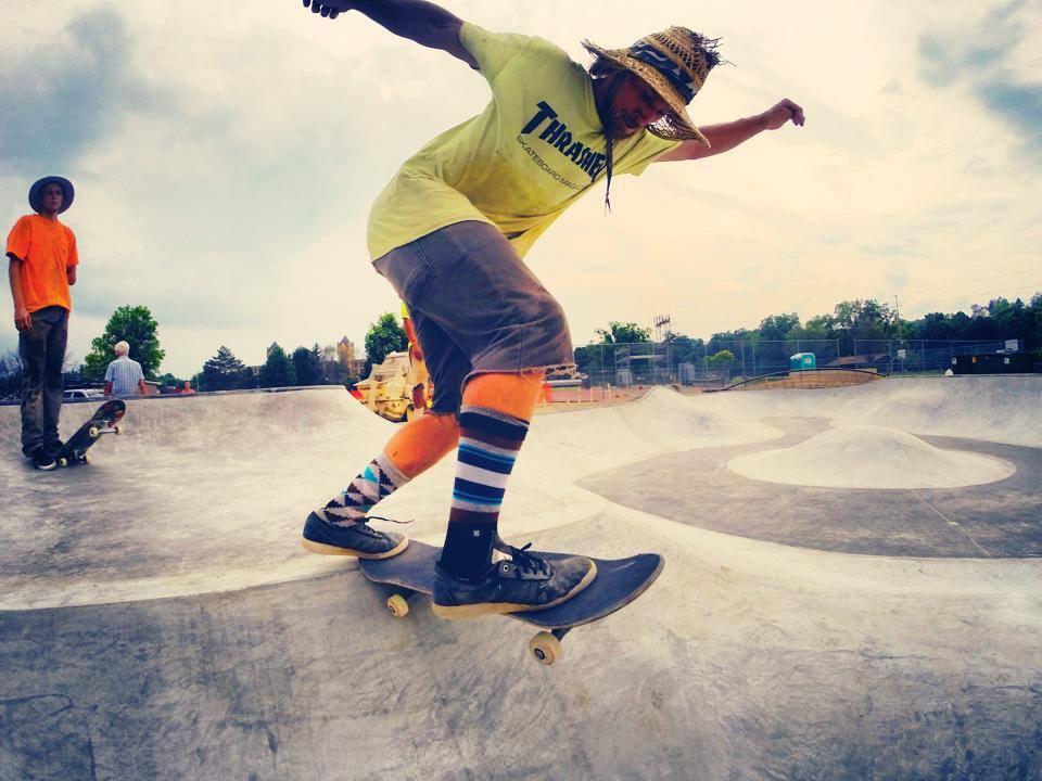 Jesse Clayton back tail at the Belding, Michigan Skatepark