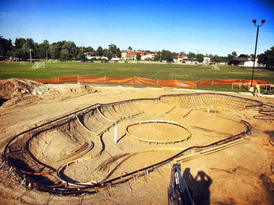 Belding, Michigan Skatepark construction
