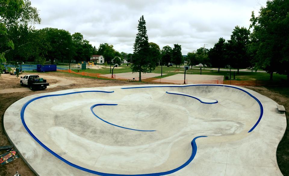 Frankfort, Michigan Skatepark completed!