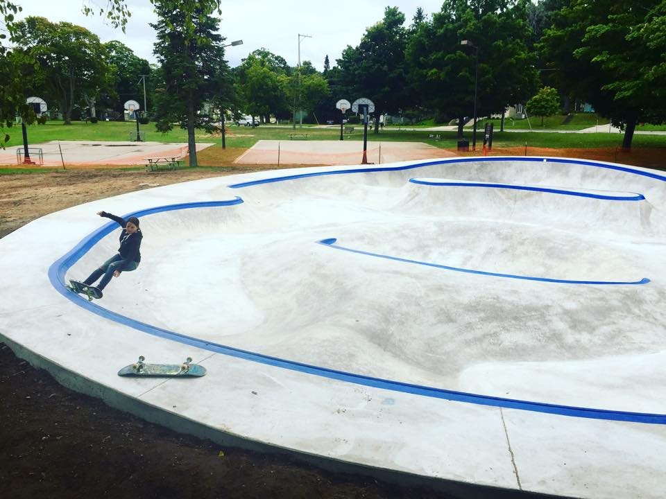 Daily grind at the Frankfort, Michigan Skatepark
