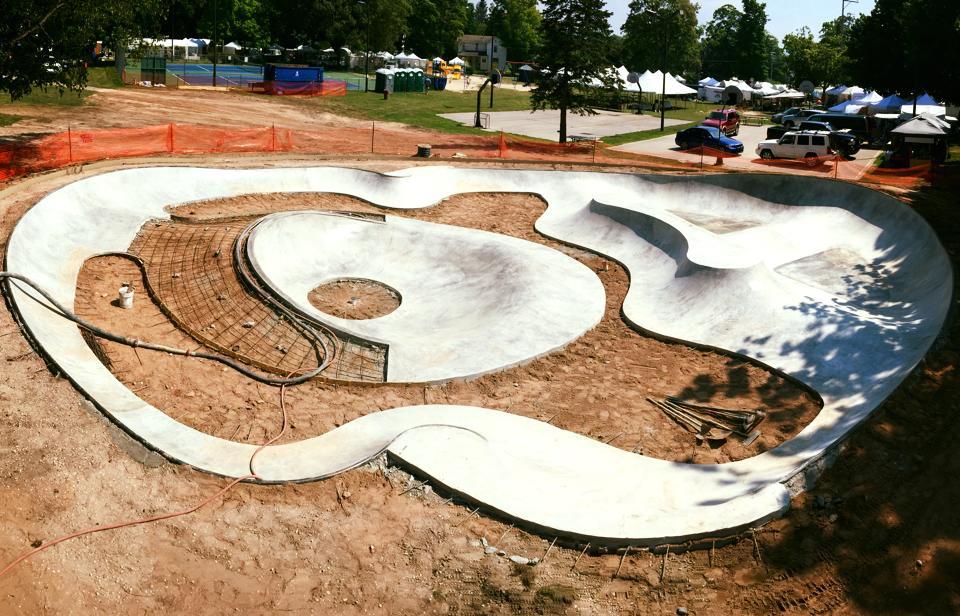 Frankfort, Michigan Skatepark Construction