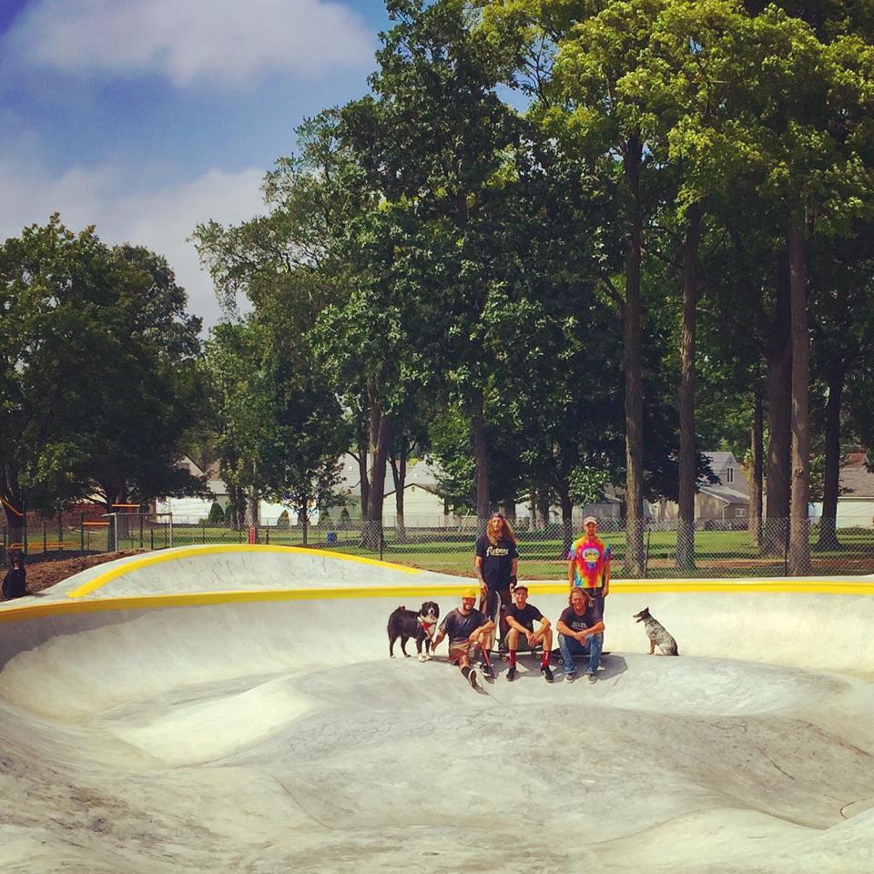 Clawson, Michigan Skatepark crew