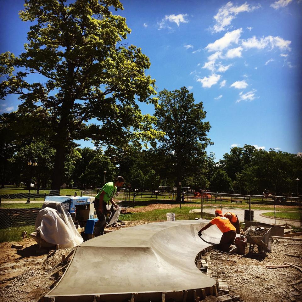 Clawson, Michigan Skatepark construction