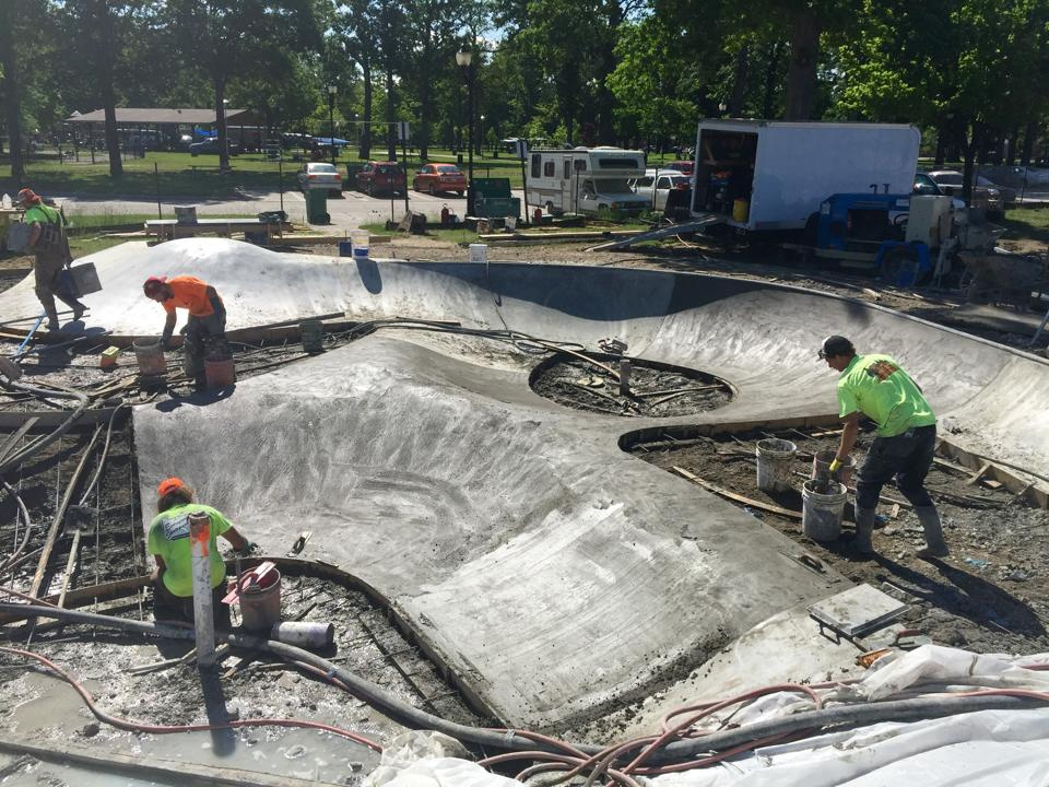 Technical pours at the Clawson, Michigan Skatepark