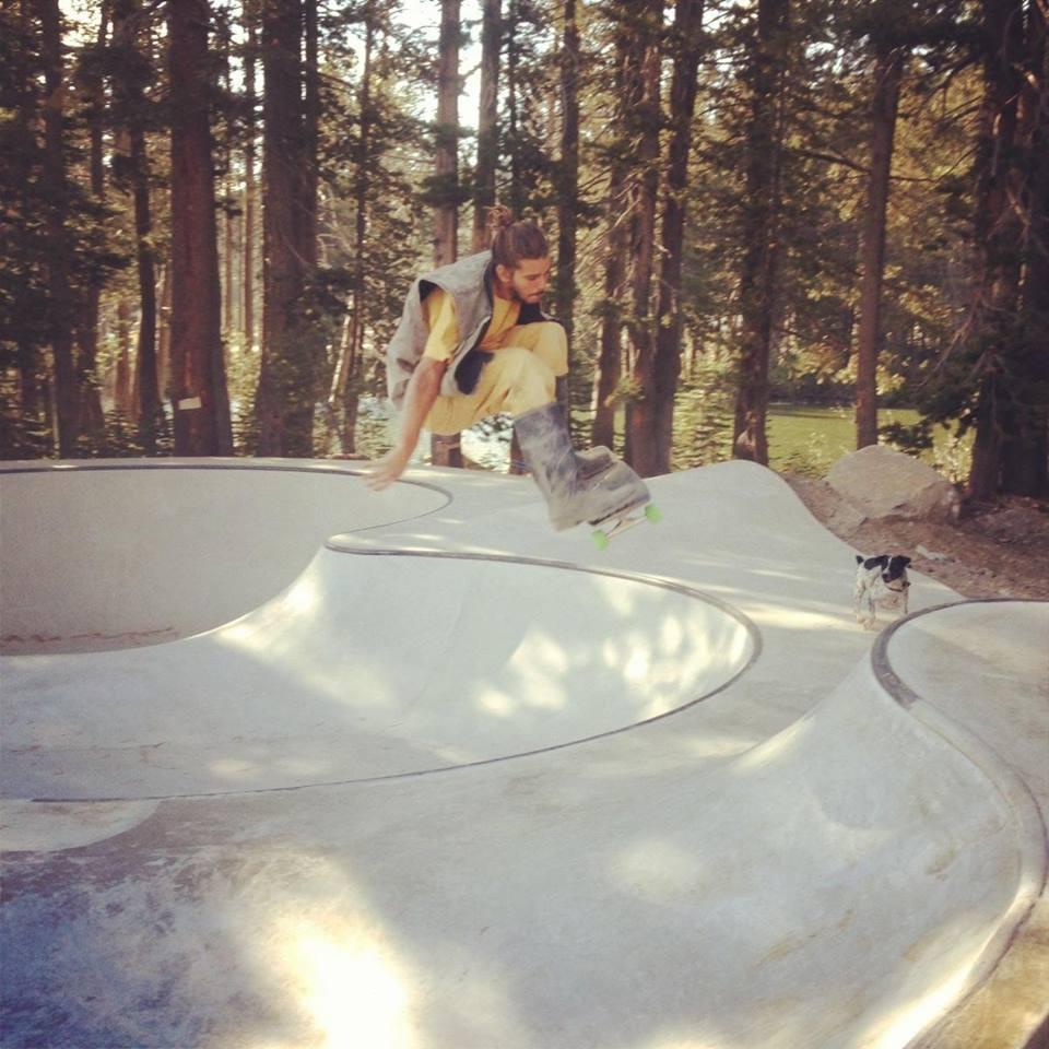 Jasper skating the Woodward Tahoe Skatepark