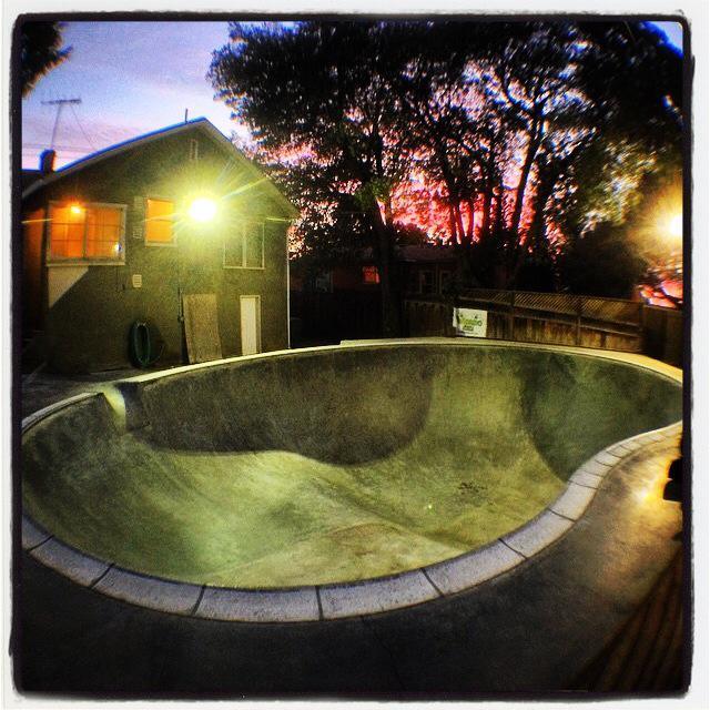 Weirdo Bowl at sunset