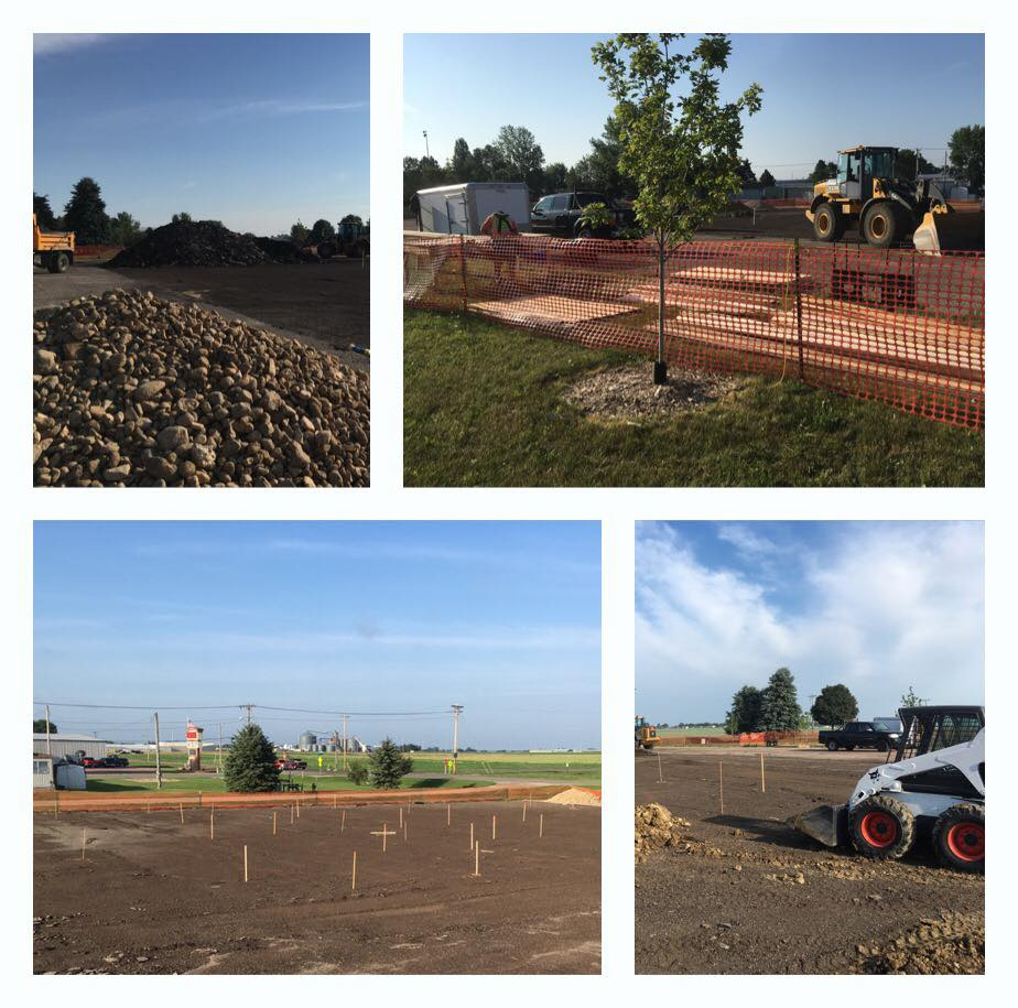 Early skatepark stages in Watertown, South Dakota