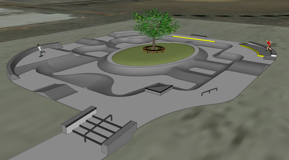 Watertown, South Dakota Skatepark Conceptual Design