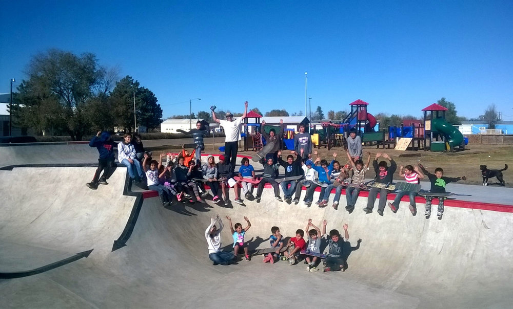 Crow Creek Sioux Tribe youth enjoying their new park!