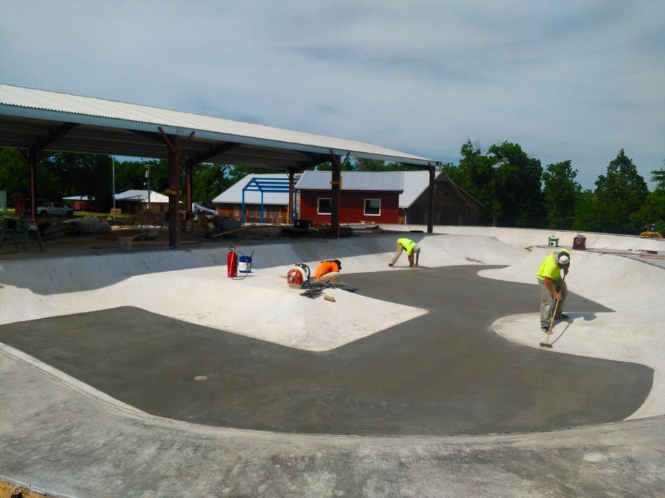 Flat pours at Camp Wood YMCA Skatepark
