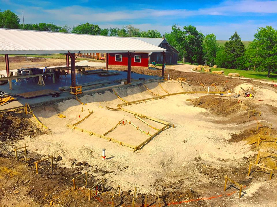Camp Wood YMCA Skatepark construction