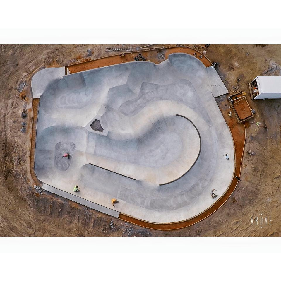 Hernando, Mississippi Skatepark from above