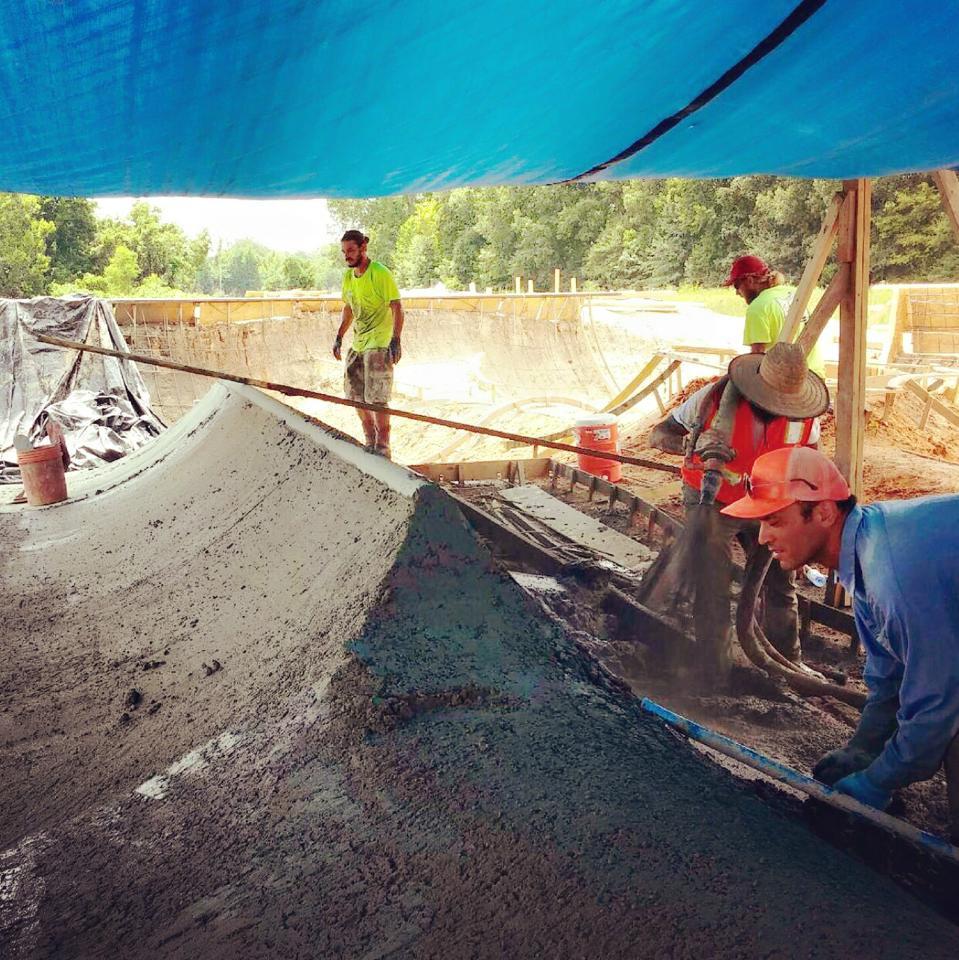 Hernando, Mississippi Skatepark construction