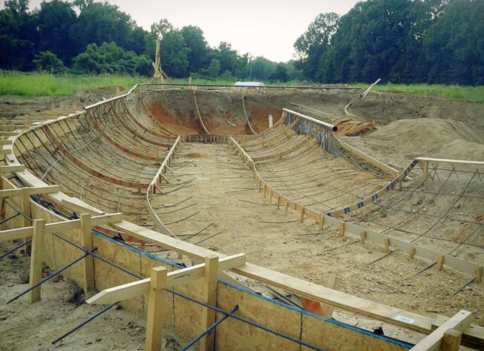 Hernando, Mississippi Skatepark ready for concrete!