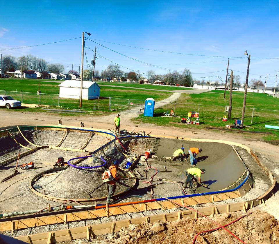 First concrete pour in Hopkinsville, Kentucky