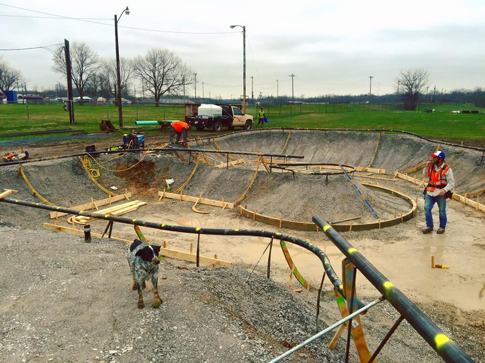 Hopkinsville, Kentucky Skatepark construction