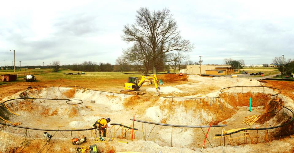 Hopkinsville, Kentucky Skatepark shaping up