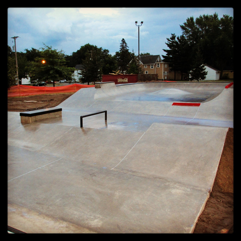 Eau Claire, Wisconsin Skatepark complete - 2,400 square feet
