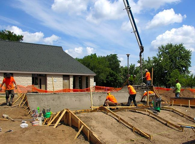 Eau Claire, Wisconsin Skatepark construction