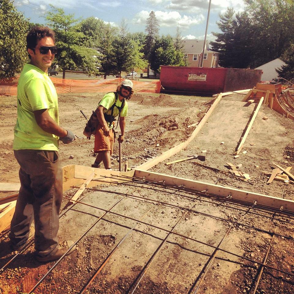 Mike Flint & Jasper Kahn working on the Eau Claire Skatepark