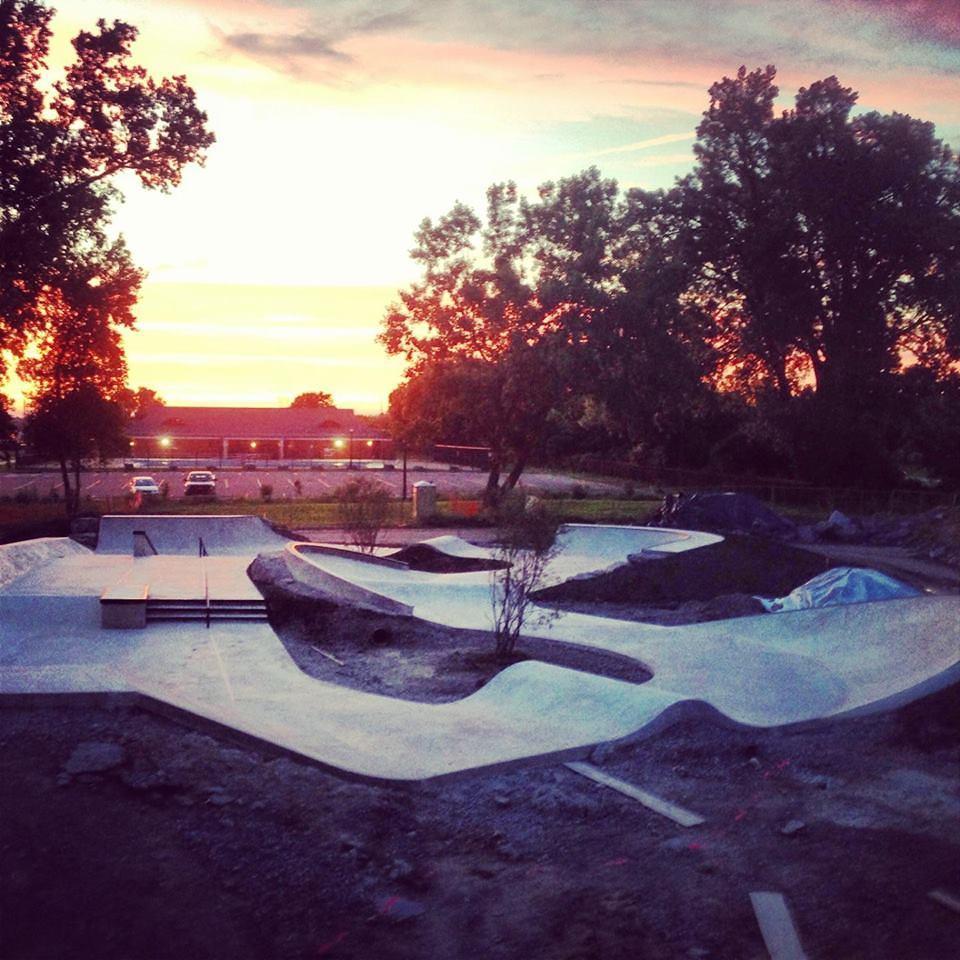 Buffalo, New York Skatepark at sunset