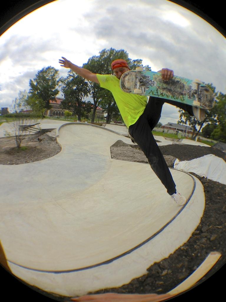Billy Coulon boneless at the Buffalo, New York Skate Plaza