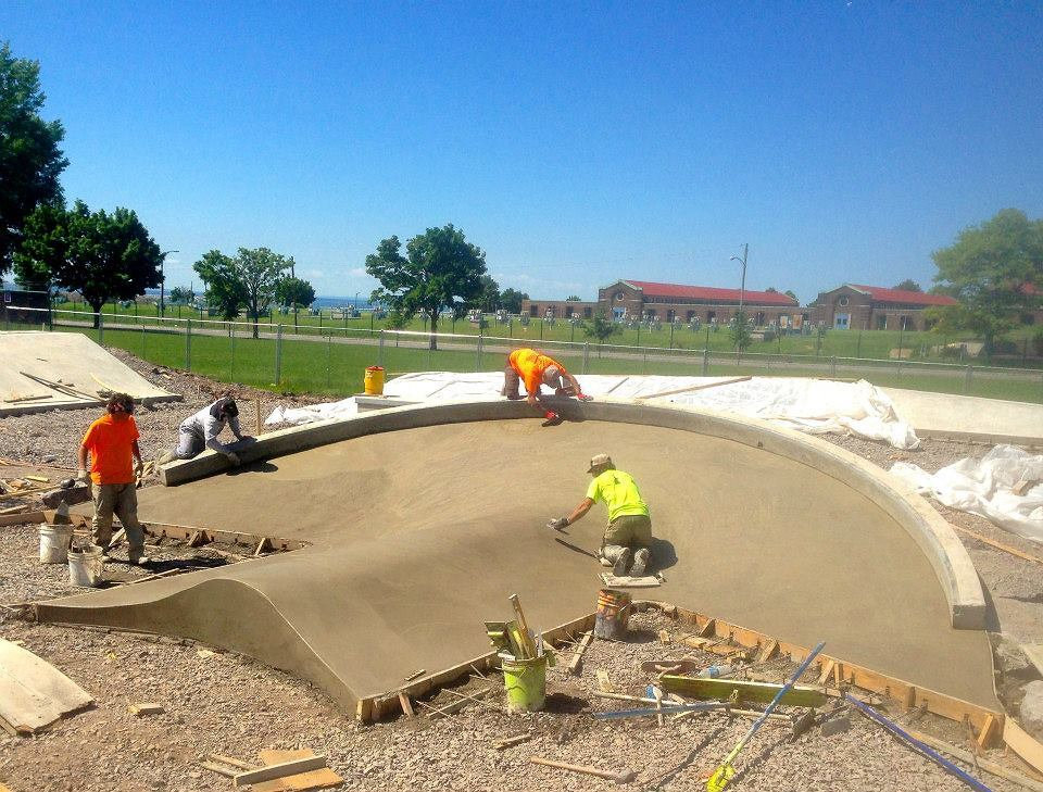 Buffalo, New York Skate Plaza construction